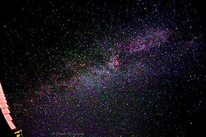 La Voie Lactée avec et sans étoiles filantes_1