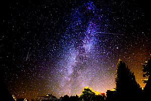 La Voie Lactée avec et sans étoiles filantes_2